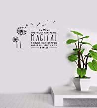 Vinyl Wall Decals Quotes Sayings Words Art Deco Lettering Inspirational The Most Fantastic Magical Things Can Happen and It All Starts with A Wish