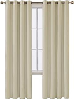 Deconovo Tende Camera da Letto Oscuranti Termiche Isolanti con Passanti per Casa Moderne 107x160cm 2 Pannelli Celeste