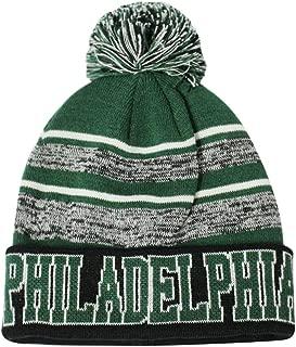 Semper Fi Philadelphia Blended Colors Men's Winter Knit Pom Beanie Hat