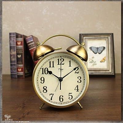 JYYA Reloj Despertador Vintage de Metal Reloj Despertador de Mesa ...