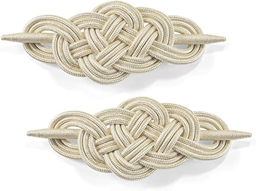 """high quality BW Brands Elegant Braided Crochet Curtain Tie Backs wholesale - Set of 2 outlet sale (Cream, 10.25"""") online sale"""