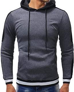 Men's Casual Fashion Pullover Hoodie Gym Sports Hoody Sweatshirt Long Sleeve Casual Tops