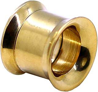 1x o Set Estensore Flesh Tunnel Orecchio Tappo Double Flared o Taper Dilatatore Colore Oro 2-10 mm