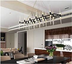 HN Lighting Chandelier, European Iron Pendant Light Modern Living Room Lights Bedroom Lights Translucent Eyes Acrylic Ceil...
