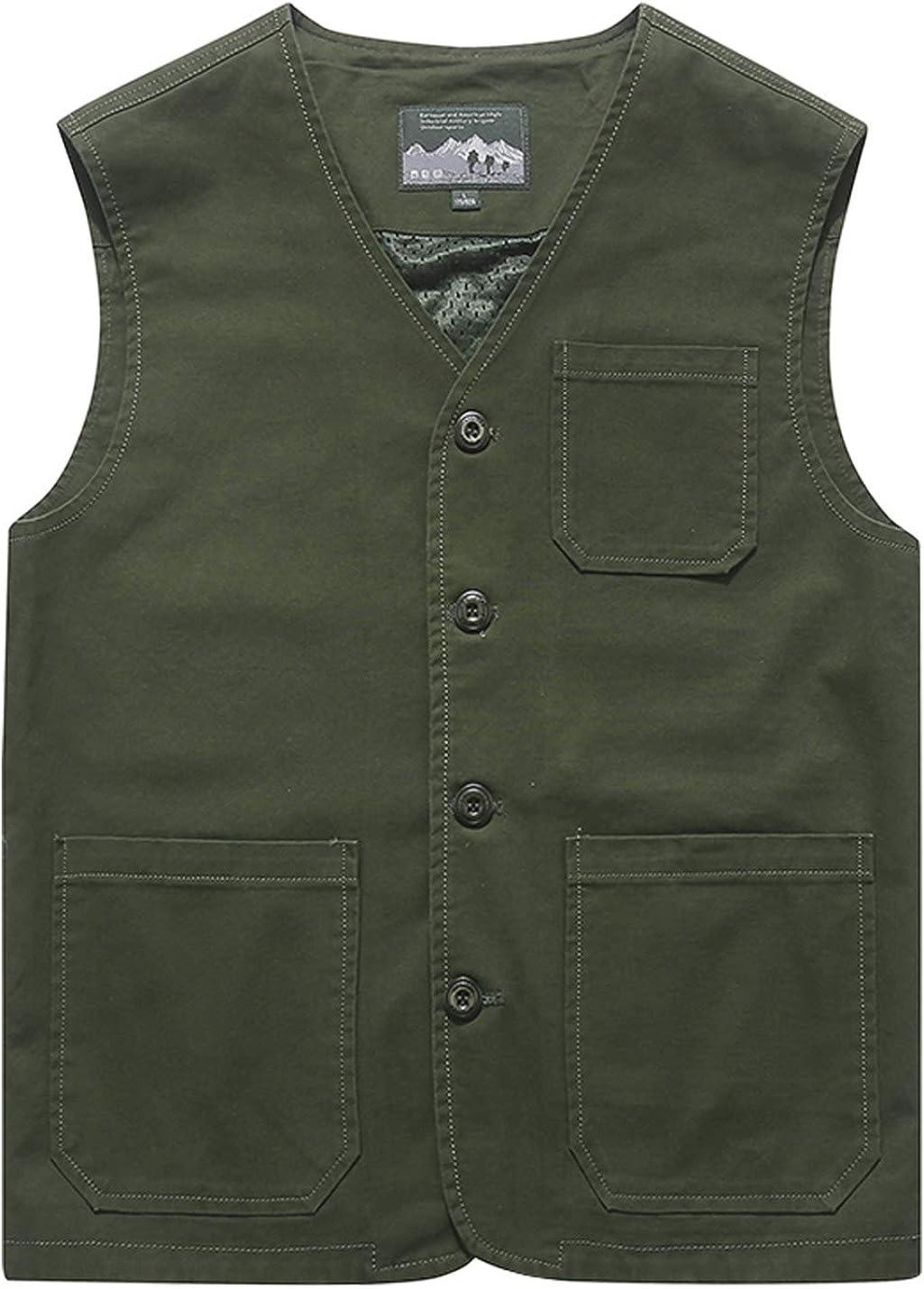 Gihuo Men's Casual Cotton 1 year warranty Outdoor Travel Philadelphia Mall Fishing Vest Safari