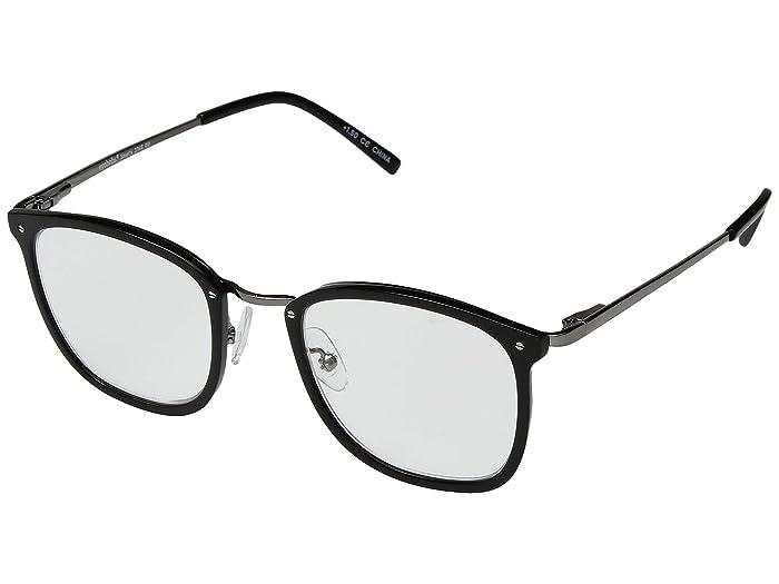 Smarty (Black/Gunmetal) Reading Glasses Sunglasses