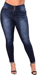 Women's High Waist Plus Size Jeans Butt Lift Stretch Pull-On Skinny Jean Slim Denim Jegging