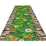 DHTOMC Alfombra premium extra larga para pasillo alfombra antideslizante, longitud personalizada, lavable para pasillo, cocina, salón, hotel, escalera, multicolor, 0,8 x 1 m