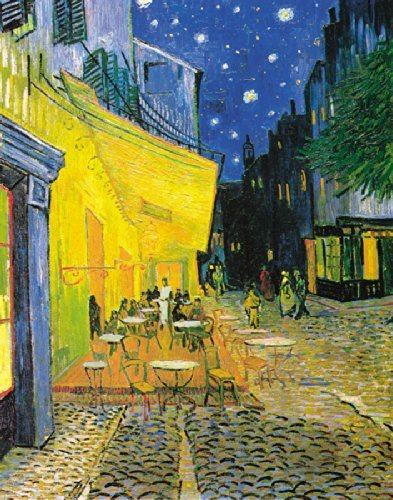 Culturenik Vincent Van Gogh Straßencafé Bei Nacht Dekorative Fine Art 27,9x 35,6cm Postkarte Poster Print Framed 11 x 14