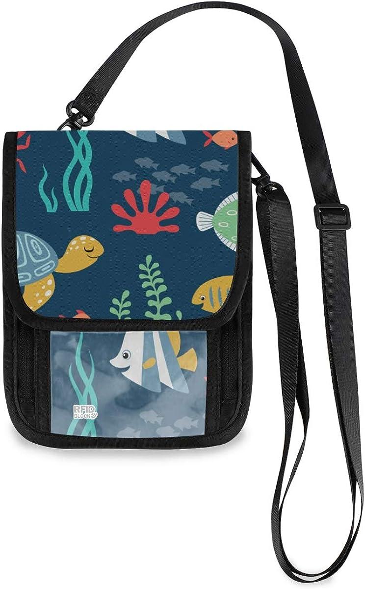 VIKKO Cute Underwater Animals Fish Popular brand in the world Wallet With RFID Neck free Travel