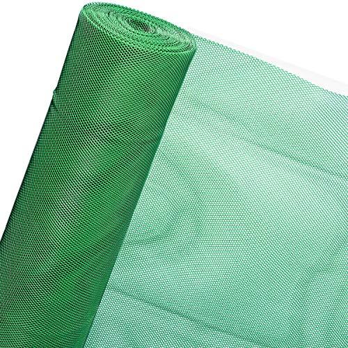 Valla sintética RT7/150LD para obras, jardines, terrenos (1,50 m de altura, color verde, precio al metro)