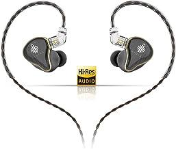 HIDIZS MS4 - Auriculares in-ear para monitor HiFi con cable desmontable y cuatro controladores híbridos (1 dinámico + 3 Knowles BA) Universal Negro