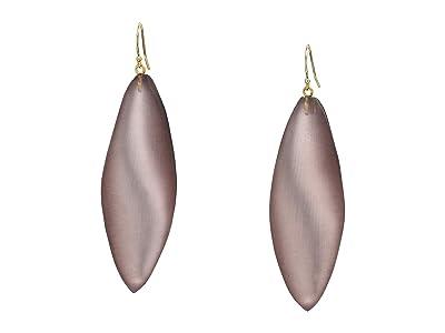 Alexis Bittar Long Leaf Earrings (Rose Grey) Earring