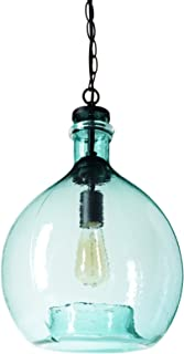 Best green glass pendant lamp Reviews