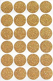 Royal Green Gold Glitter dot Stickers Round Colored - 1 inch 25mm Sparkle Circle Envelope Seals 240 Pack