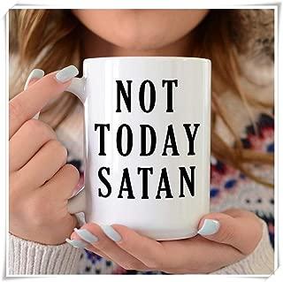 PerfectPrintedAQA - Not Today Satan, Jesus Mug, Not Today Satan Mug, Satan, Jesus Christ, Baby Jesus, Bible Verse, Scripture, Jesus Birthday, 11oz Ceramic Coffee Mug/Cup/Drinkware, High Gloss