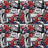 Tela DC Comics Spiderman Comic SC306 por 0,5 metros - por Springs Creative - 100% algodón