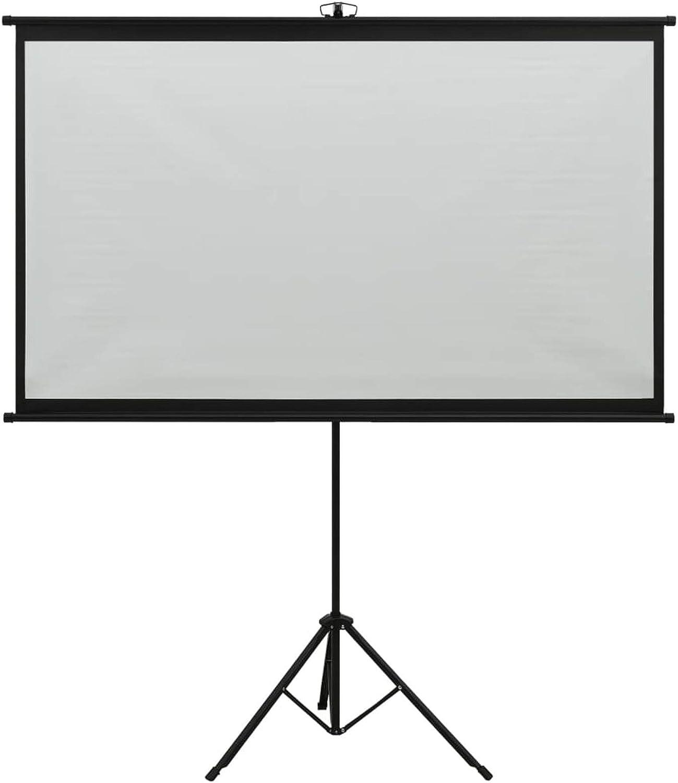 Tidyard Schermo di Proiezione con Treppiedi 50//60//84 90 4:3,Telo per proiettore avvolgibile,Schermo Portatile,Schermo Proiettore Avvolgibile