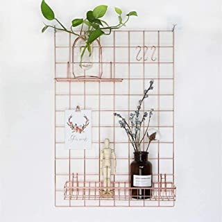 UYZ Tablero de Alambre de Rejilla para Panel de Fotos de Notas, decoración de Pared, Alfombra de Oficina, Escritorio, Orga...