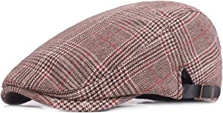 2019 Women Quilted Peaked Cap for Men Cotton Adjustable Flat Cap Duckbill Newsboy Gatsby Irish Hat 55-59cm (Color : 1, Size : Free Size)