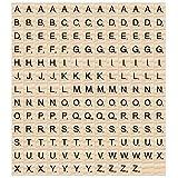 Madholly 169 pcs letras de madera scrabble letras scrabble letras madera, educación preescolar para...