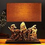 cagü: Design Tischleuchte Treibholz | 50cm | braun