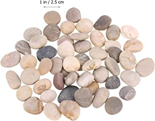 Supvox Lot de 50 peintures en pierres de bonheur douces pour la plage 1 à 3 cm