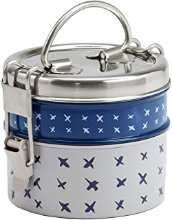 FLOOR   9 6FLH3009 Food Container Set, Small, 2 Stack, Blue