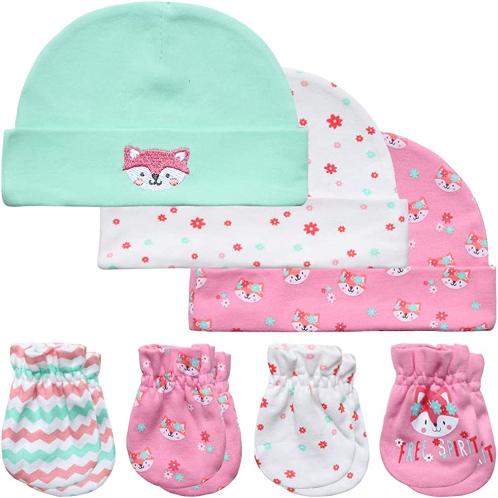 Baby Fees free Mittens Hats and Choice Booties 0-6 Set Months Newborn Gift