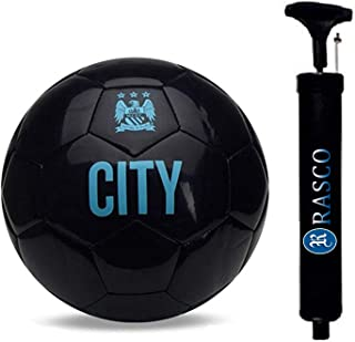 RASON Rubber Football With Pump, Size 5, (Black)