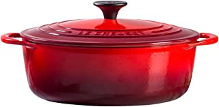 Le Creuset Shallow Dutch French Oven, 2.75 quart, Cerise (Cherry Red)