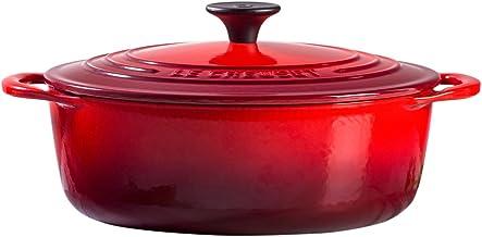 Le Creuset L2545P-2267 Shallow Dutch French Oven, 2.75 quart, Cerise (Cherry Red)
