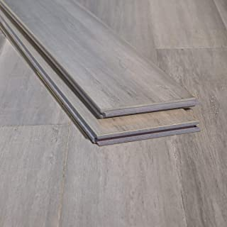 Ambient Bamboo - Bamboo Flooring Sample, Color: Ashwood Distressed, Solid Strand Tongue and Groove