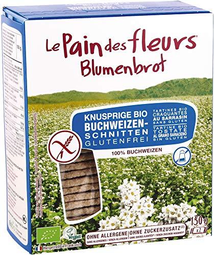 Blumenbrot Bio Knusprige Bio Buchweizen-Schnitten ohne Salz und Zucker (6 x 150 gr)