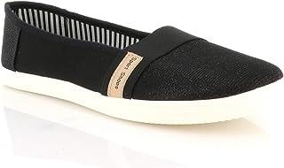 72520e6e75768d DoubleTree Ballerines Femmes Brillantes Taille 41-44 - Chaussures De Sport  Paillette Plate en Tissu