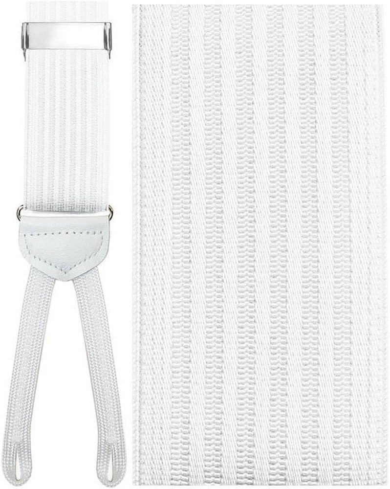 Umbria White Suspenders