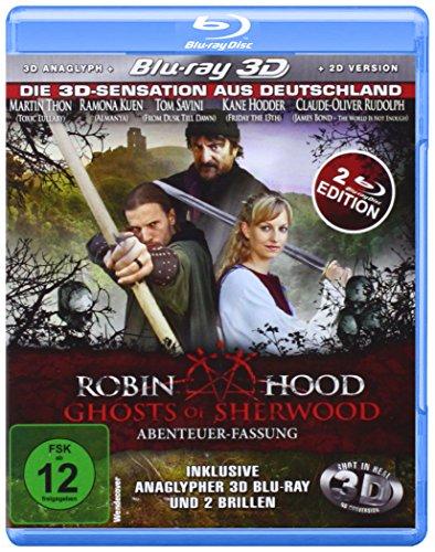 Robin Hood: Ghosts of Sherwood (Abenteuer-Fassung) (inkl. anaglypher 3D Blu-Ray und 2 Brillen) [Blu-ray 3D]