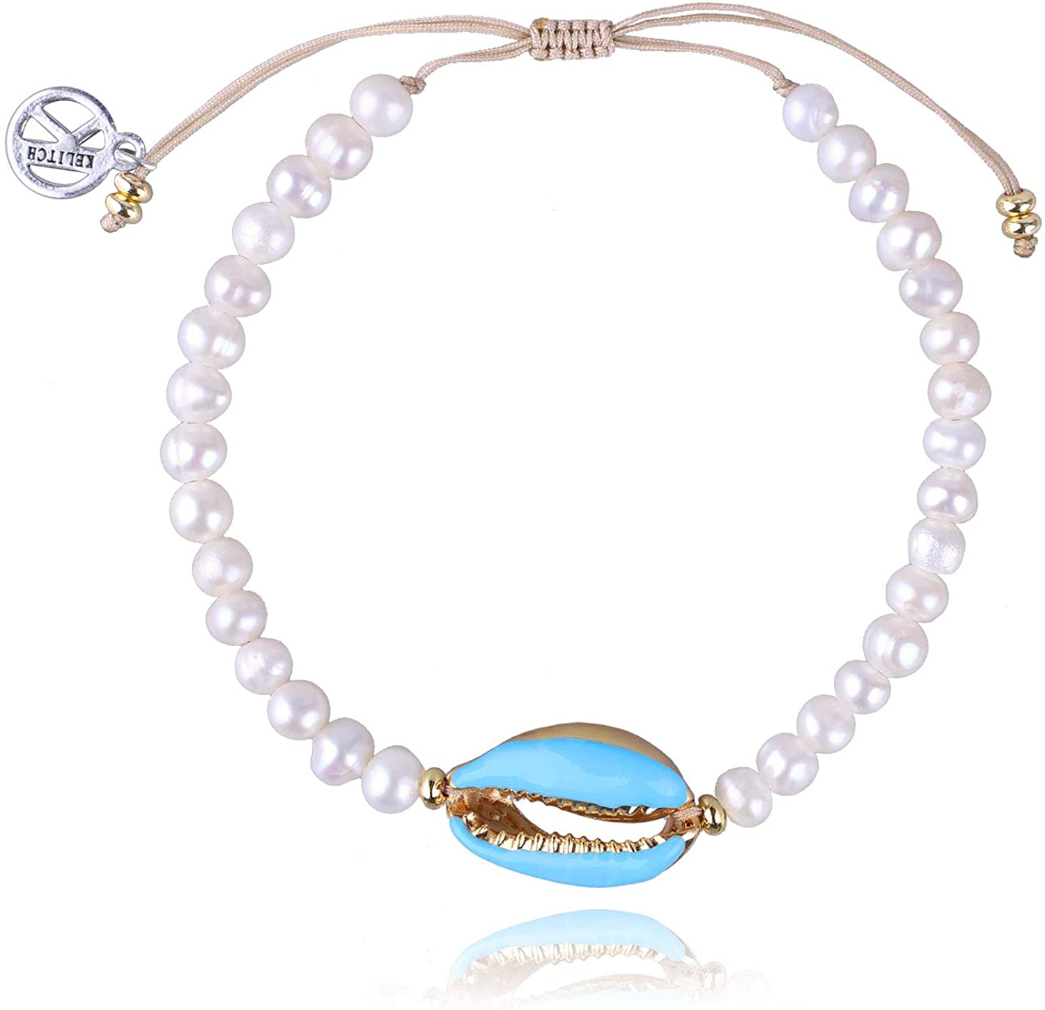 KELITCH Natural Shell Pearl Strand Bohemian Cowry Gold Very popular Bracelet Max 62% OFF