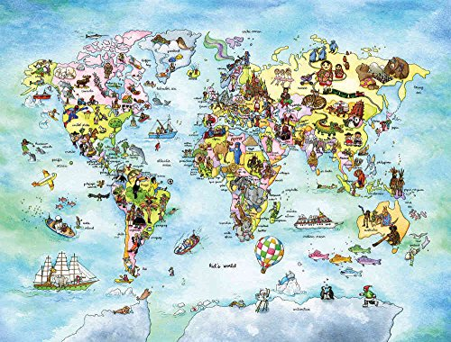 Wall Size World Map compare High Quality Mural Full Wall Size Photo of a Fun World Map
