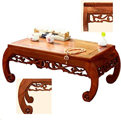 Coffee Tables Tatami Coffee Table Solid Wood Bay Window Table Small Coffee Table Leisure Low Tea Table Tables (Color : Wood, Size : 60 * 40 * 30cm)