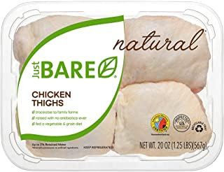 Just BARE All Natural Fresh Chicken, Thighs, 1.25 lb