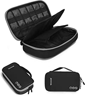 BAGSMART Electronic Accessories Bag, 3 Layer Portable Electronic Organizer Travel for Cables, Extra Batteries, Adapters, U...