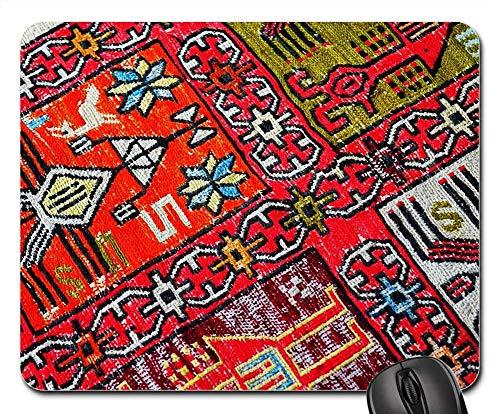 Mausepad Teppich Orientierungsmuster Orientteppich Im Ruhestand Standardgröße 25X30Cm Rutschfestes Büro Retro Diy Personalisierte Mausmatte Schreibtisch Gedruckte Computerspielmat