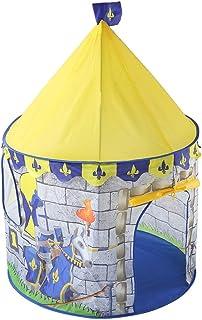 HO-TBO speltält, Yellow Knight Castle Theme speltält söt vikbar prinsessa stor lekstuga Indian Indoor Outdoor Fun Camping ...