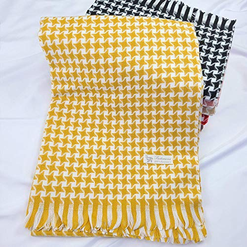 B/H Neck Scarf,Elegant warm and comfortable scarf shawl-turmeric,Scarf Womens