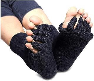 Flesser Yoga Sports GYM Five Toe Separator Socks Alignment Pain Health Massage Socks