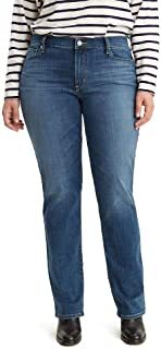 Levi's Plus-Size 414 Classic Straight Jeans Vaqueros para Mujer