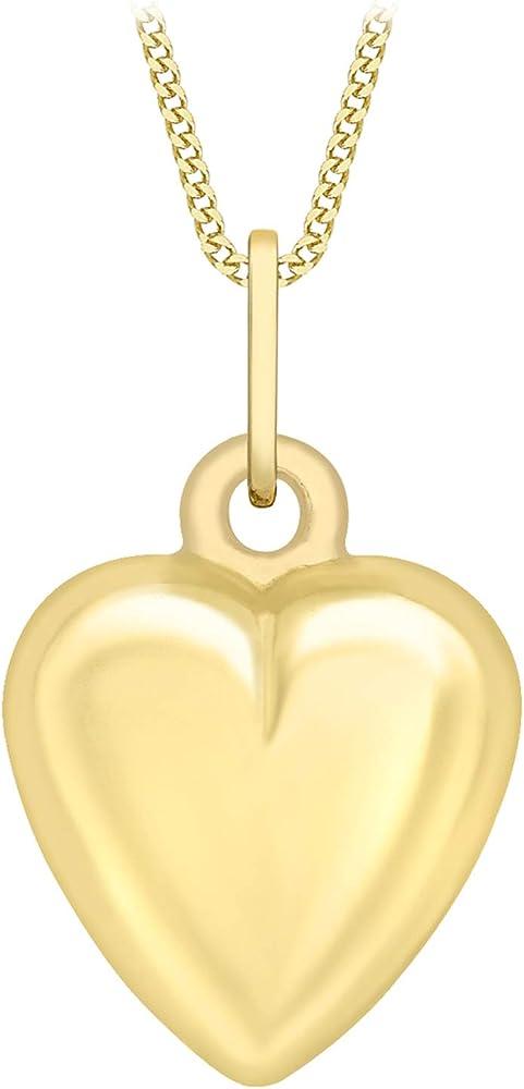 Carissima gold collana con pendente da donna a forma di cuore in oro 9k (375) 1.40.3373