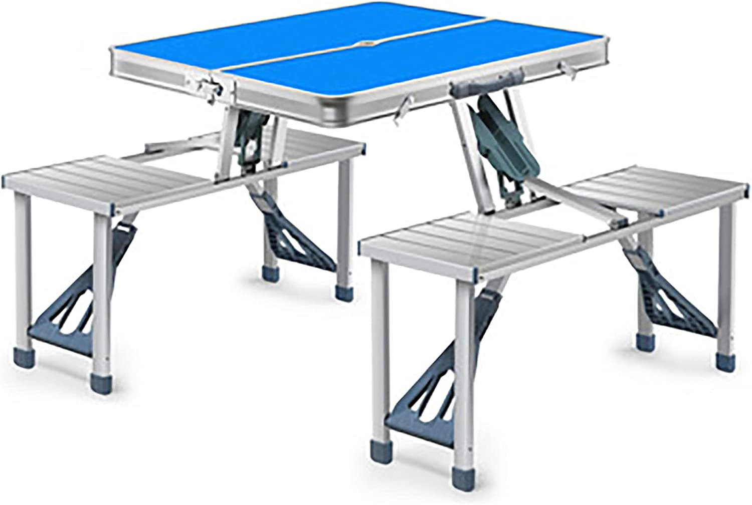 Aluminum Table Portable Picnic outlet with Campi 4 Folding Chairs NEW before selling
