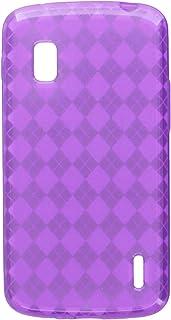 MyBat Argyle Candy Skin Cover for LG E960 (Nexus 4) - Retail Packaging 紫色